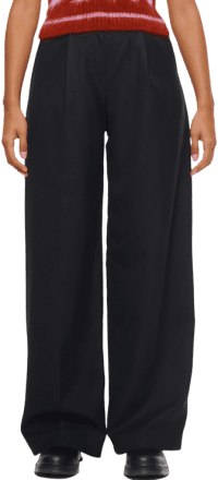 Black Warped Wool Suit Pant-Fiona O'Neill