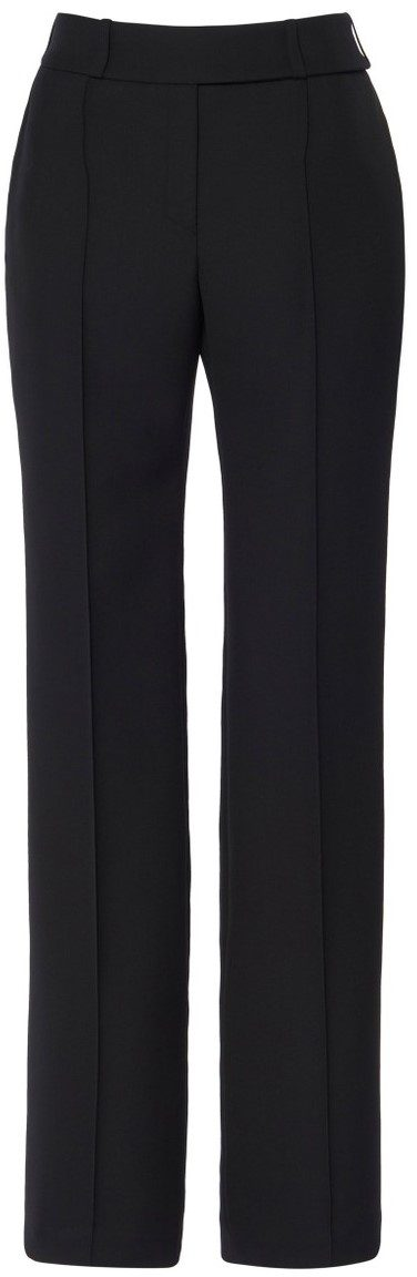 Black Wool High-Rise Straight-Leg Pants-Alexandre Vauthier