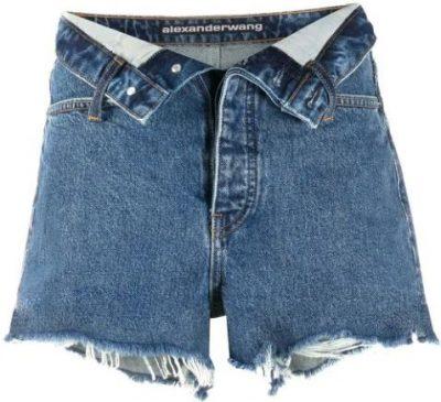 Blue Bite Flip Denim Shorts-Alexander Wang