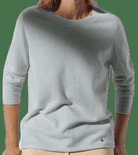 Blue Cashmere Crew Neck Sweater-Massimo Dutti