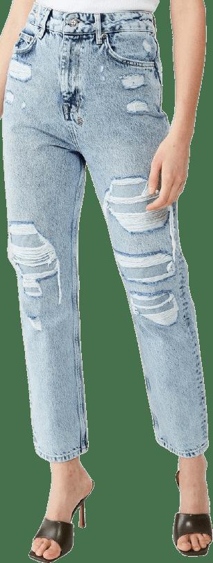 Blue Chlo Wasted Overkast Khaos Jeans-Ksubi