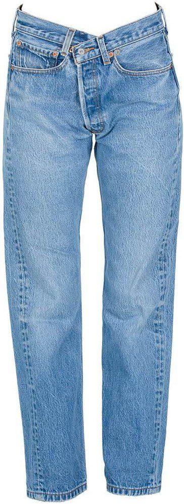 Blue Cross Over Pants-EB Denim