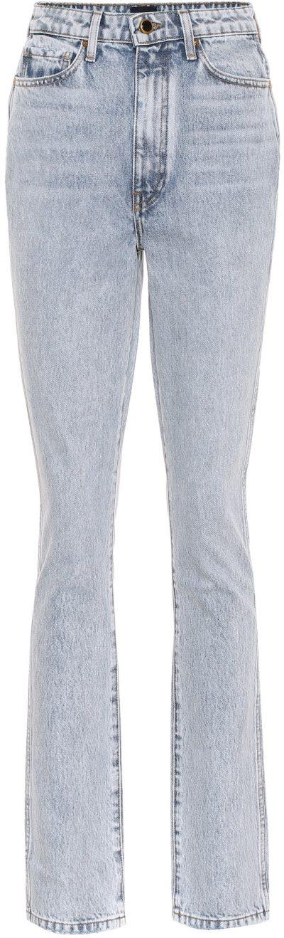 Blue Daria High-Rise Bootcut Jeans-Khaite