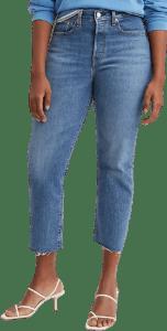 Blue Denim Wedgie Straight-Fit Jeans