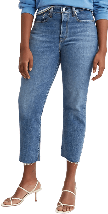 Blue Denim Wedgie Straight-Fit Jeans