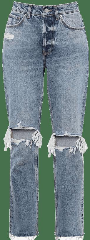 Blue Destructed Piedmont Lara Jeans