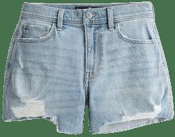 Blue High-Rise Denim Vintage Short-Hollister