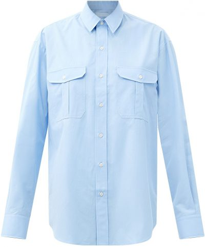 Blue Release 03 Oversized Cotton-Poplin Shirt-Wardrobe.NYC