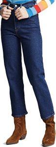 Blue Ribcage Straight Jeans-Levi's