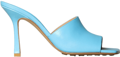 Blue Stretch Leather Sandals