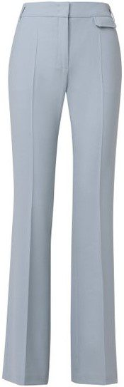 Blue The New Ambition Wool-Blend Flared Trousers-Dorothee Schumacher