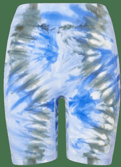 Blue Tie-Dye Seamless Bike Shorts