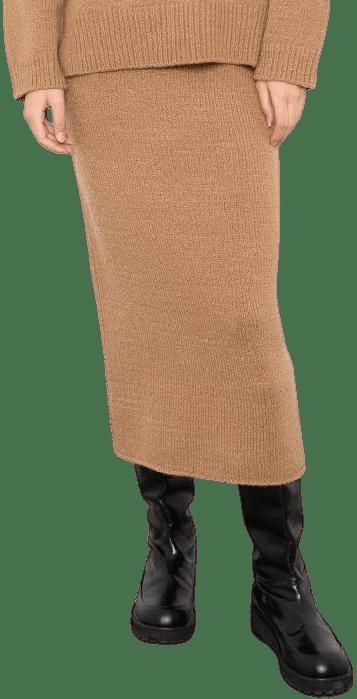 Brown Knit Skirt