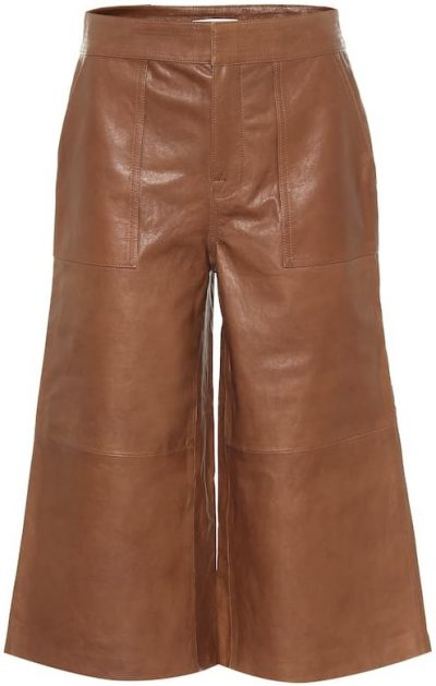 Brown Leather Culottes-Frame