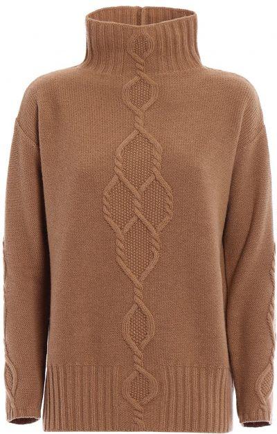 Brown Navata Wool And Cashmere Turtleneck