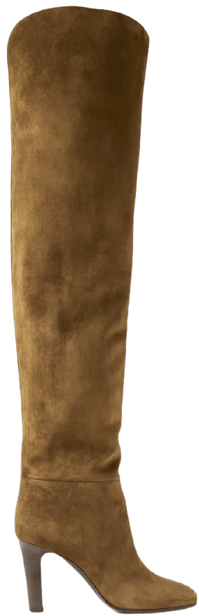 Brown Suede Over-The-Knee Boots