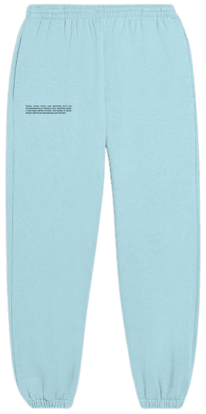 Celestial Blue Lightweight Recycled Cotton Track Pants-Pangaia