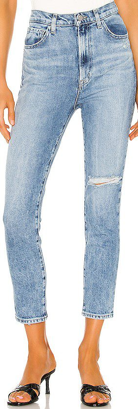 Chadron Destruct 1212 Runway High Rise Slim Straight Jeans-J Brand