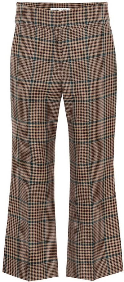 Checked Cormac Cropped Wool-Blend Pants