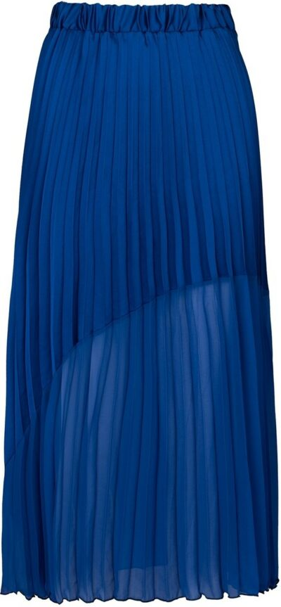 Cobalt The Contrast Hem Pleated Skirt-Hope