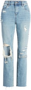 Come Back Ripped Straight Leg Ankle Jeans-BLANKNYC