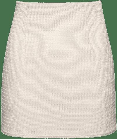 Cream Handwoven Mini Skirt-Magda Butrym