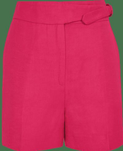 Dark Pink Tailored Shorts