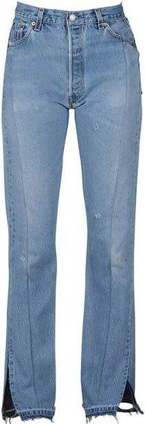 Dark Wash Unraveled Jeans