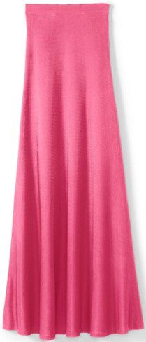 Flash Pink Viscose Milano Knit Lined Skirt-St. John