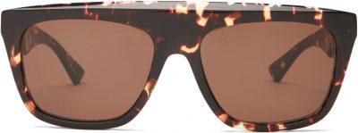 Flat-Top Tortoiseshell-Acetate Sunglasses-Bottega Veneta