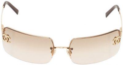 Gold 4104 CC Rimless Sunglasses-Chanel