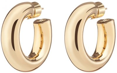 Gold Jamma Huggies Earrings-Jennifer Fisher