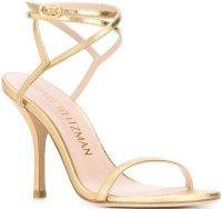 Gold Merinda 95mm Sandals-Stuart Weitzman