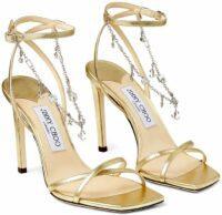 Gold Metz Sandals-Jimmy Choo