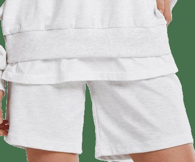 Gray Ariana Drawstring Lounge Shorts-Storets