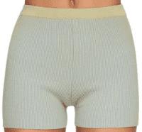 Green Rib Knit Cycling Shorts-Jacquemus