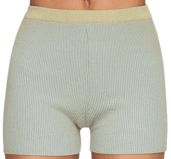 Green Rib Knit Cycling Shorts-Jacquemus