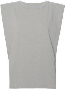 Grey Eva Padded Shoulder Muscle T-Shirt