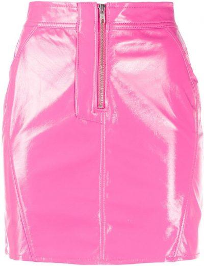 Hot Pink Vinyl Mini Skirt-Fiorucci