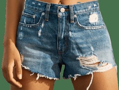 Indigo Essential Mid-Rise Denim Shorts
