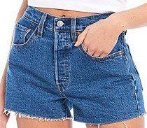 Jive Stone Original High-Rise Frayed Hem Shorts