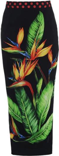 Jungle Strelitzia Skirt