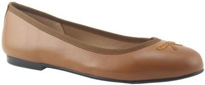 Kathy Praline Leather Ballet Shoes-French Sole
