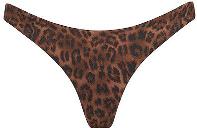 Leopard Print High Cut Bikini