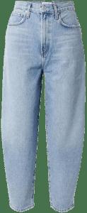 Light Denim Balloon High-Rise Tapered Jeans-Agolde