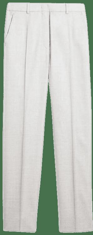 Medium Grey Wool And Silk Trousers