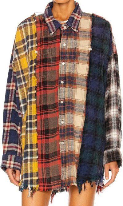 Multi Plaid Shirt-R13