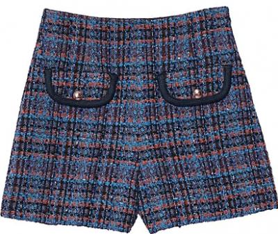 Multicolored Uman Tweed Shorts
