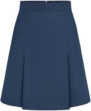 Navy A-Line Mini Skirt-Louis Vuitton