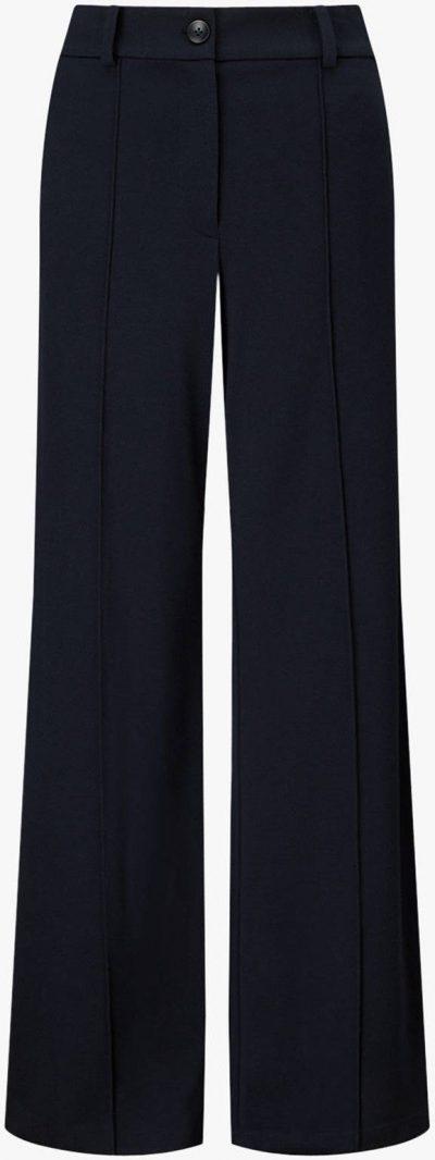 Navy Jigsaw Sport Luxe Jersey Wide Trousers-John Lewis